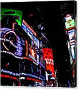 Times Square Lights Canvas Print