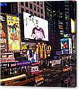 Times Square Ny Panoramic Canvas Print