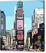 Times Square Nyc Cartoon-style Canvas Print