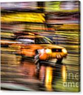 Times Square Taxi I Canvas Print