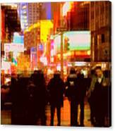 Times Square - The Lights Of New York Canvas Print