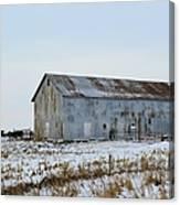 Tin Barn Color  Canvas Print