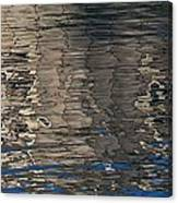 Tin Fishing Shack Reflection Canvas Print