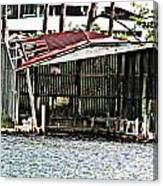 Tin Roof Rusted Canvas Print