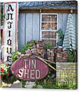 Tin Shed Apalachicola Florida Canvas Print