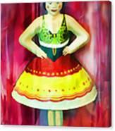 Tin Toy Ballerina Canvas Print