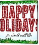 Tinsel Greeting Card Digital Art Canvas Print