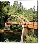 Tioga Bridge Over North Umpqua River Canvas Print