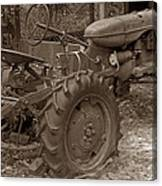 Tired Tractor...... Sepia Canvas Print