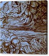 Titan In Desert Canvas Print