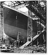Titanic Under Construction Canvas Print