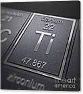 Titanium Chemical Element Canvas Print