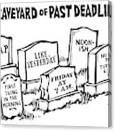 Title: Graveyard Of Past Deadlines.  A Graveyard Canvas Print