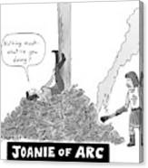 Title: Joanie Of Arc. A Teenage Joan Of Arc Rests Canvas Print
