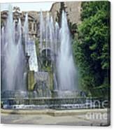 Tivoli Garden Fountain Canvas Print