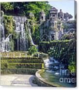 Tivoli Garden Fountains Canvas Print