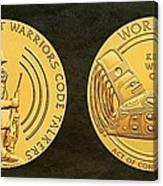 Tlingit Tribe Code Talkers Bronze Medal Art Canvas Print