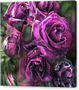 To Be Loved - Purple Rose Canvas Print