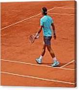 Rafael Nadal To The Baseline Canvas Print