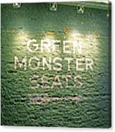 To The Green Monster Seats Canvas Print