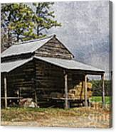 Tobacco Barn In North Carolina Canvas Print