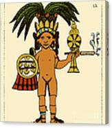 Tobacco In Aztec Ritual, Florentine Canvas Print