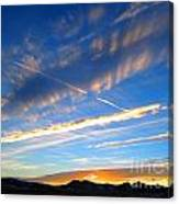 Tobacco Root Mountains At Sunset 1 Canvas Print