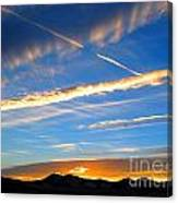 Tobacco Root Mountains At Sunset 2 Canvas Print