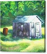 Tobacco Shed Canvas Print