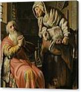 Tobit And Anna With The Kid Canvas Print