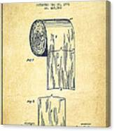 Toilet Paper Roll Patent Drawing From 1891 - Vintage Canvas Print