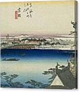 Tokaido - Yoshida Canvas Print