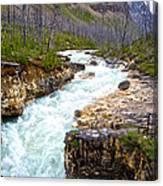 Tokuum Creek Flowing Into Marble Canyon In Kootenay Np-bc Canvas Print