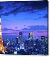 Tokyo Night View Canvas Print