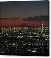 Tokyo Skytree, Fuji, And Tokyo Tower Canvas Print