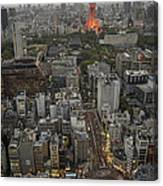 Tokyo Tower Sunset Canvas Print