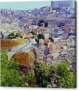 Toledo Spain In Blue Canvas Print