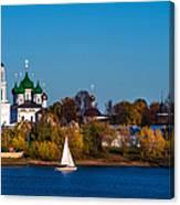 Tolga Monastery At River Volga Canvas Print
