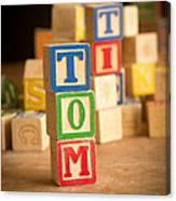Tom - Alphabet Blocks Canvas Print