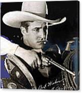 Tom Mix Portrait Melbourne Spurr Hollywood California C.1925-2013 Canvas Print