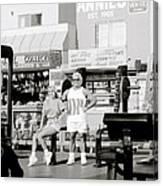 Tom Platz At Venice Beach Canvas Print