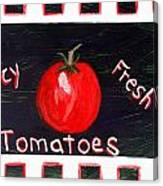 Tomatoes Market Sign Canvas Print