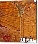 Tomb 67 In Petra-jordan Canvas Print