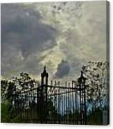 Tombstone Picture Perfect Halloween Image Canvas Print