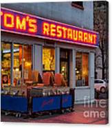 Tom's Restaurant Canvas Print