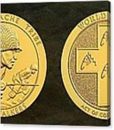 Tonto Apache Tribe Code Talkers Bronze Medal Art Canvas Print