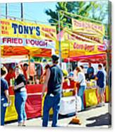 Tonys Concessions Potato Garlic Soup Bread Bowl Canvas Print