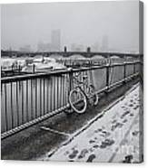 Too Cold To Cycle Canvas Print