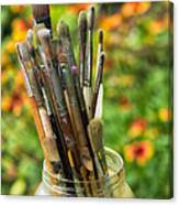 Tools Of The Painter Canvas Print