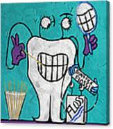 Tooth Pick Dental Art By Anthony Falbo Canvas Print